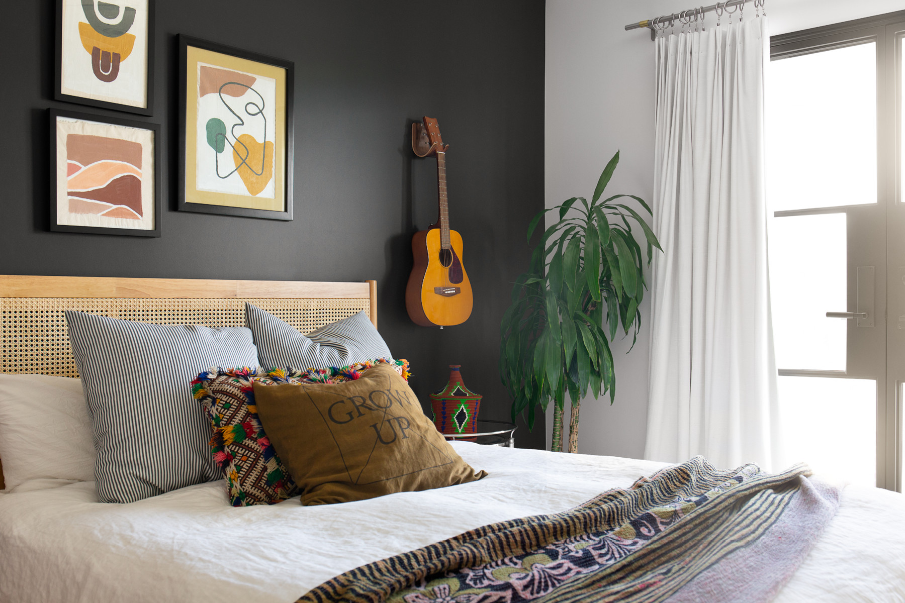 """O&squot;Brien&squot;s home has plenty of space for her two children, Keenan and Indigo. """"It's a very relaxed culture and friendly neighborhood and idyllic to raise children,"""" she shares. Custom Art 