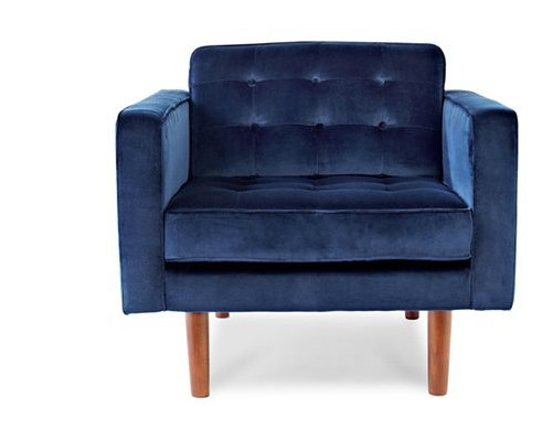 Clean, classic lines that meld midcentury influences with the sumptuousness of velvet.