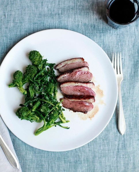 Citrus-Honey Duck Breast with Greens