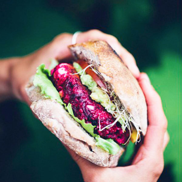 Upgrade: Beet Veggie Burger