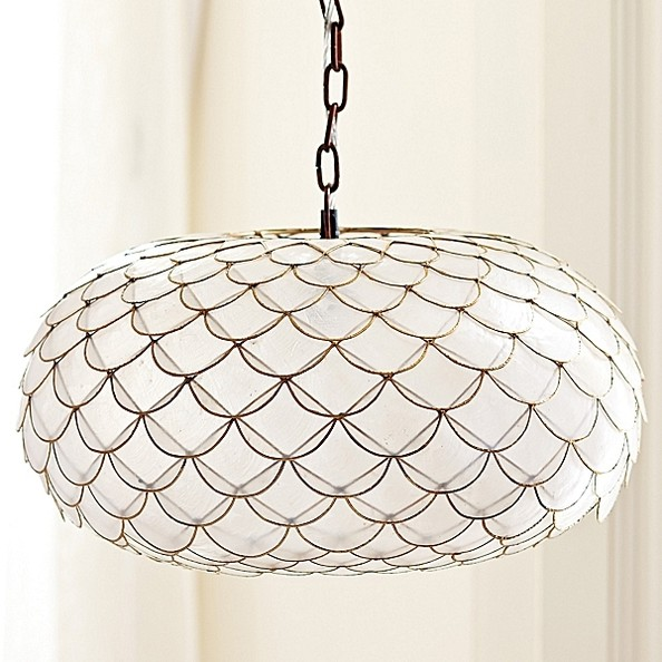 Serena Lily Capiz Scalloped Chandelier
