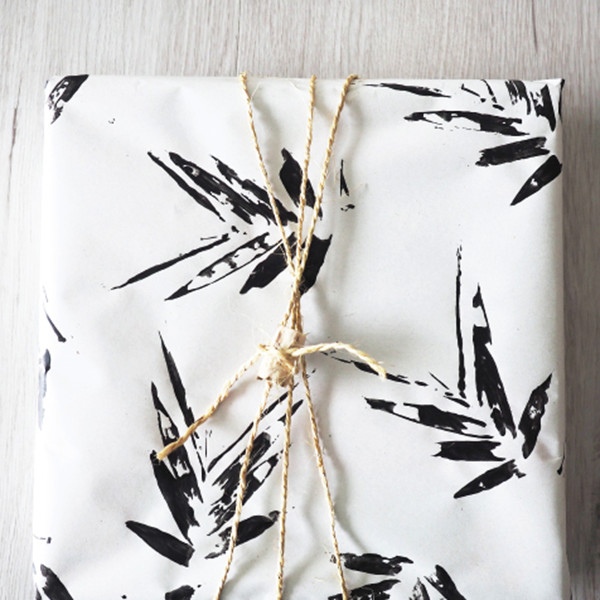 Plant-Stamp Wrapping Paper