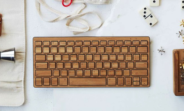 Wireless Bamboo Keyboard by West Elm