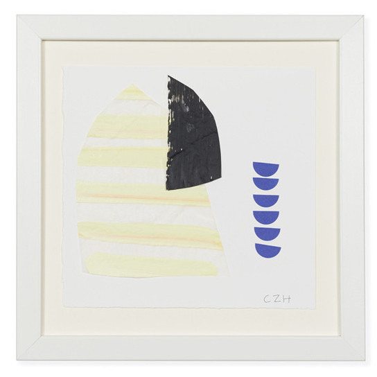 Small Yellow Collage by Caroline Z. Hurley: $225; Lizzie Fortunato.