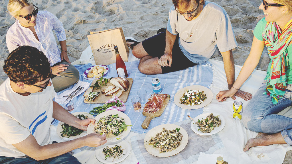 Madeline Picnic Co. hits the beach.
