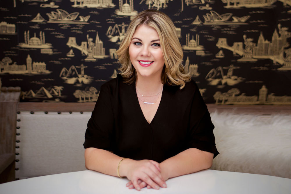The woman with herpulse on modern parenting: 9SPR founder Katie Hammond. Wallpaper, Cities Toilein Ebony by Rifle Paper Co.