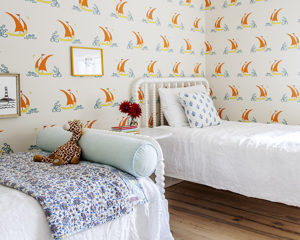 The Bright and Beachy Kids Room