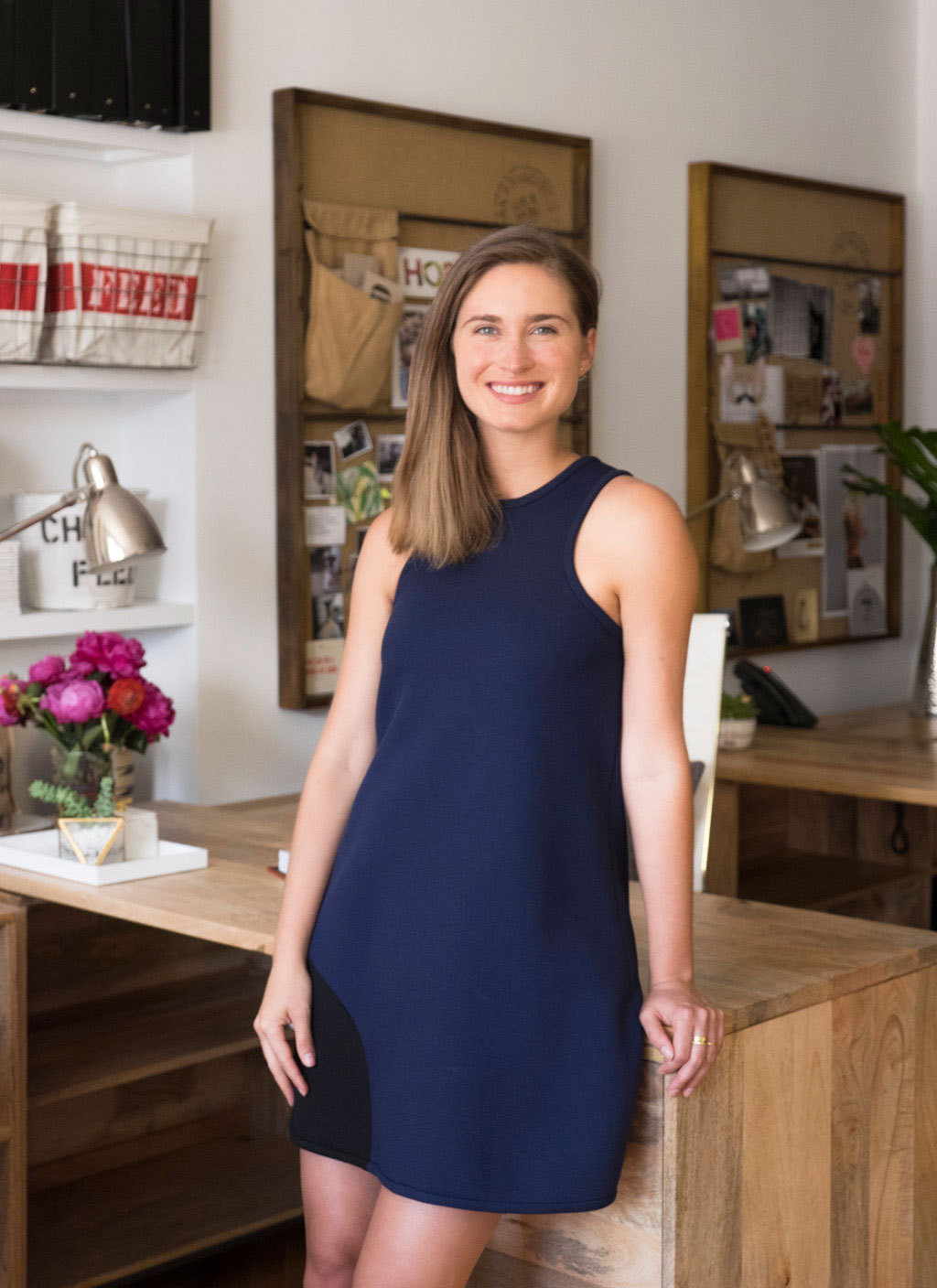 Founder Lauren Bush Lauren in her refreshed office space.