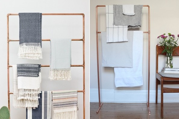 DIY to Try: Copper Pipe Towel Rack