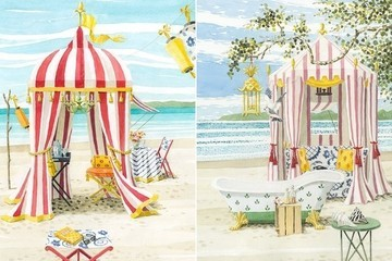 Outdoor Summer Entertaining Inspired by...Art Prints?