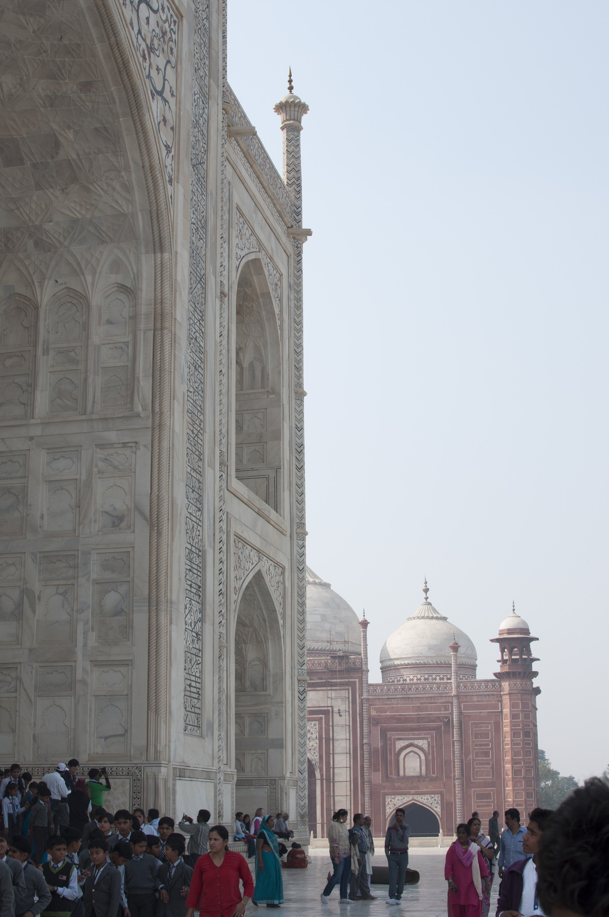 The Birch Lane team was taken by the marble lattice and reflective tiles covering the exterior of the Taj Mahal.