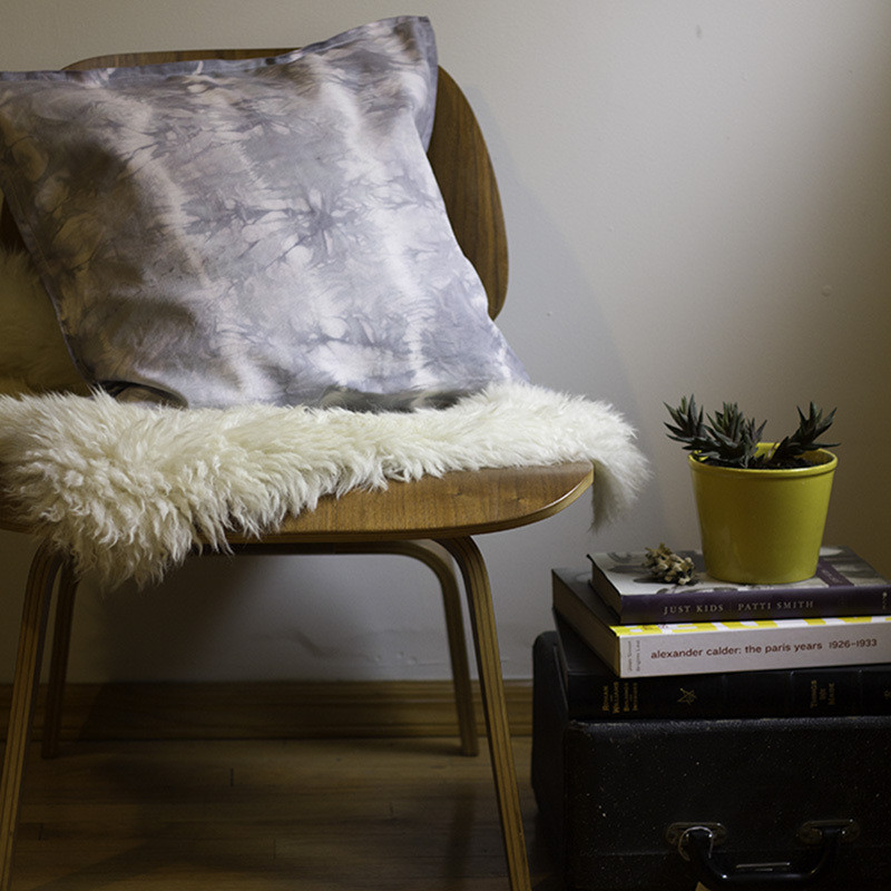 How To Make A Tie Throw Pillow : DIY Tie-Dye Throw Pillows - How to Make Tie-Dye Throw Pillows - Lonny