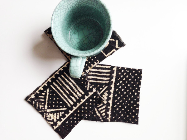 Mud Cloth Coasters by OSxN
