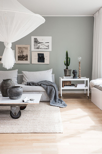Green Gray Lighten Up These Springy Rooms Are Pale