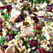 Turkey Mushroom Cranberry Risotto