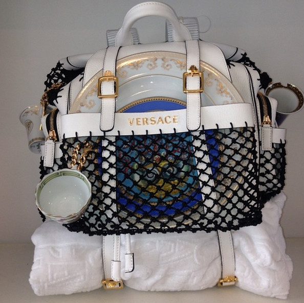 Versace Picnic Bag, via Instagram | Lonny