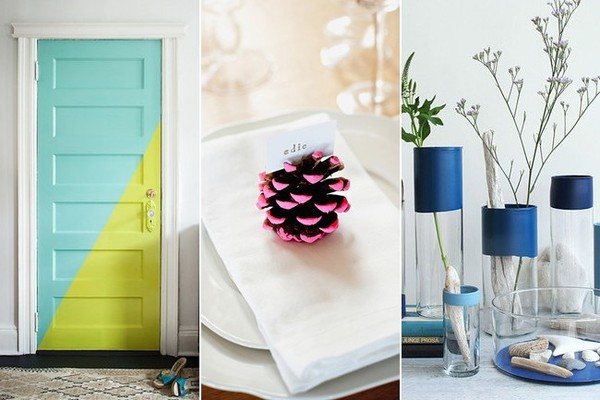 20 Paint-Dipped DIYs to Add Color to a Neutral Room