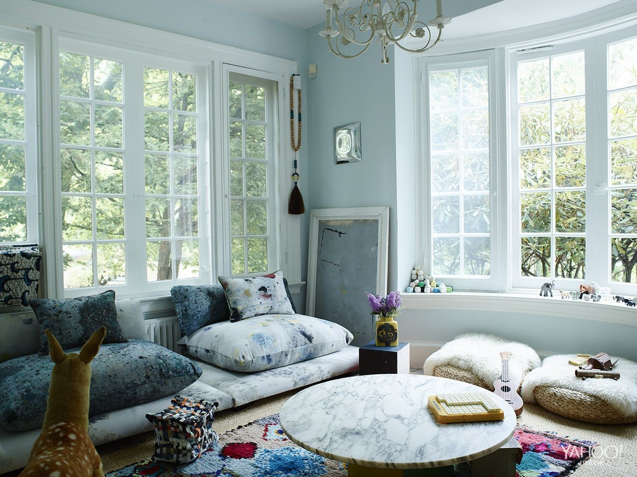 "The cozy-chic ""kids&squot; room"" at stylist Molly Findlay&squot;s home in upstate New York."