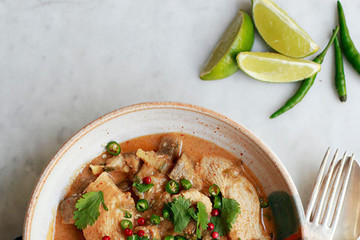 Red Curry Chicken and Eggplant