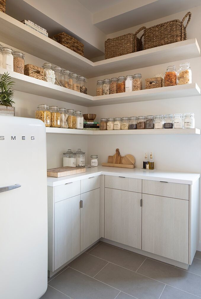 Organized by Blishaus, this home's pantry is absolute goals.