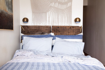 A Rustic Yet Refined, Small-Space Bedroom Makeover