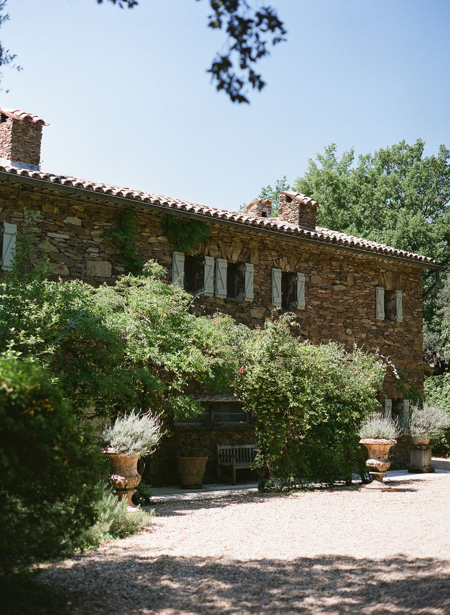 Cuneo's Grandmother's stone house sits on a hillside above Saint-Tropez.
