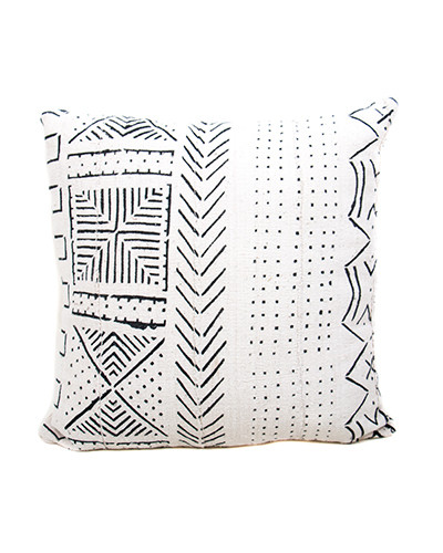 African Mud Cloth Cotton Pillow