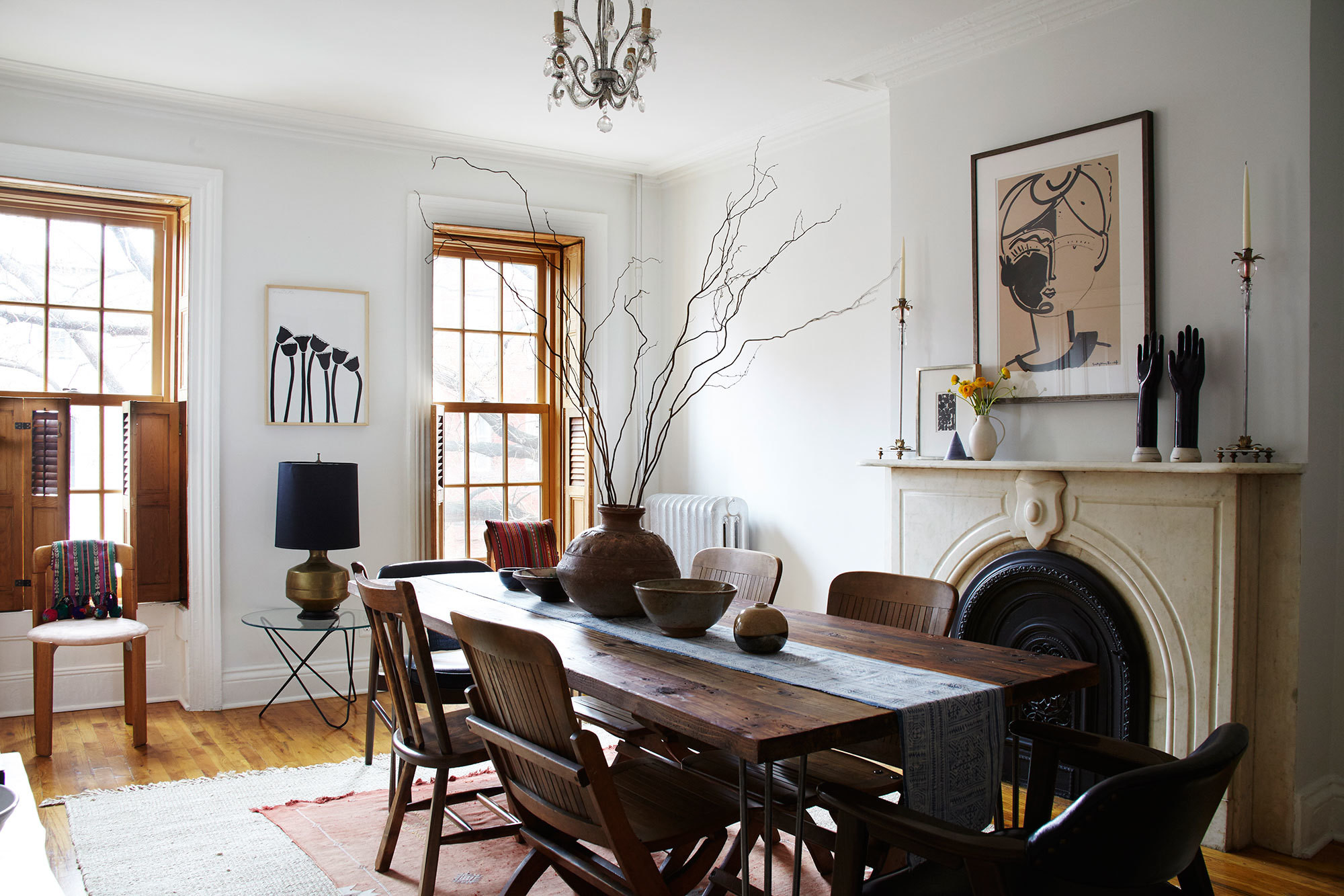 the dining room of jewelry designer lizzie fortunatos brooklyn apartment isthe perfect landing spot - Inspired Home Design