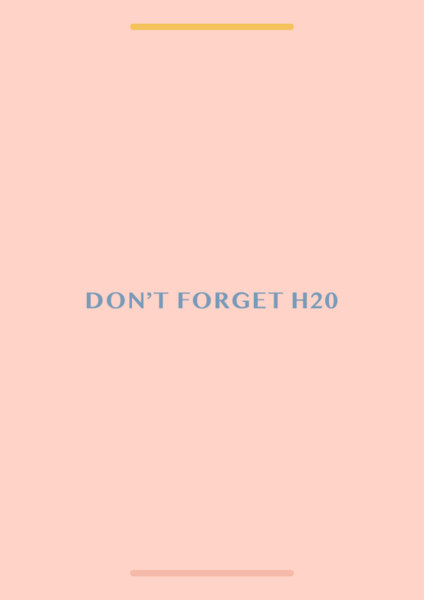 Don't Forget H20