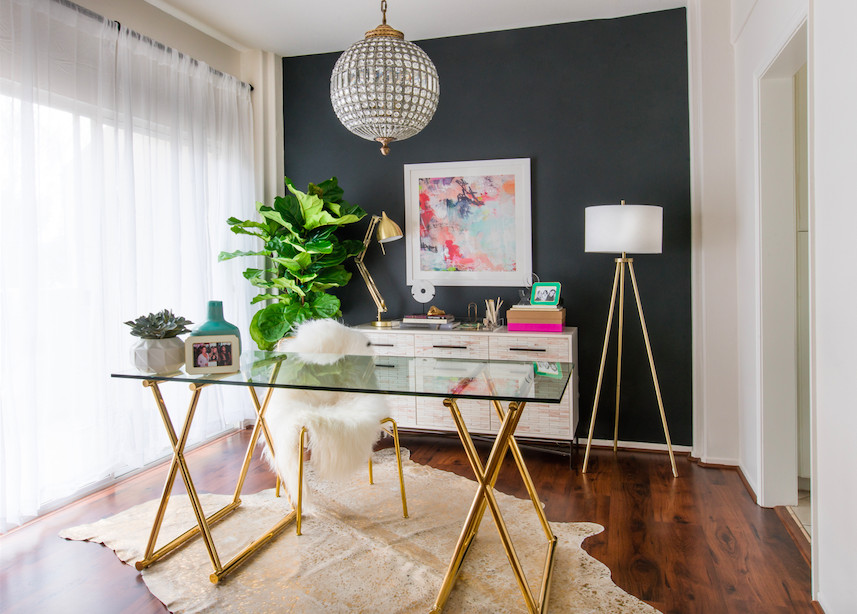 YouTube Star Desi Perkins's Living Room Makeover