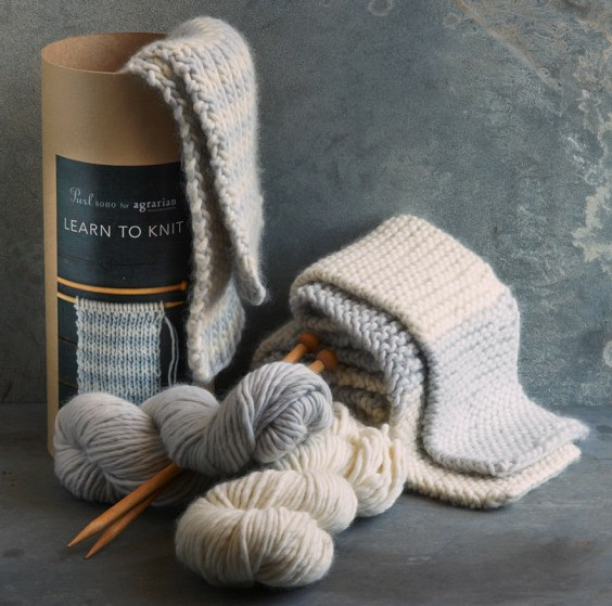 Learn to Knit Scarf Kit by Purl Soho for Williams-Sonoma