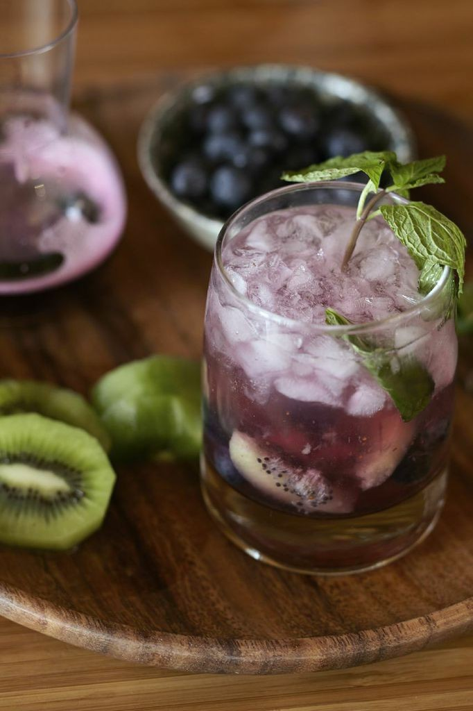 A blueberry-kiwi mojito by fashion designer Lela Rose.