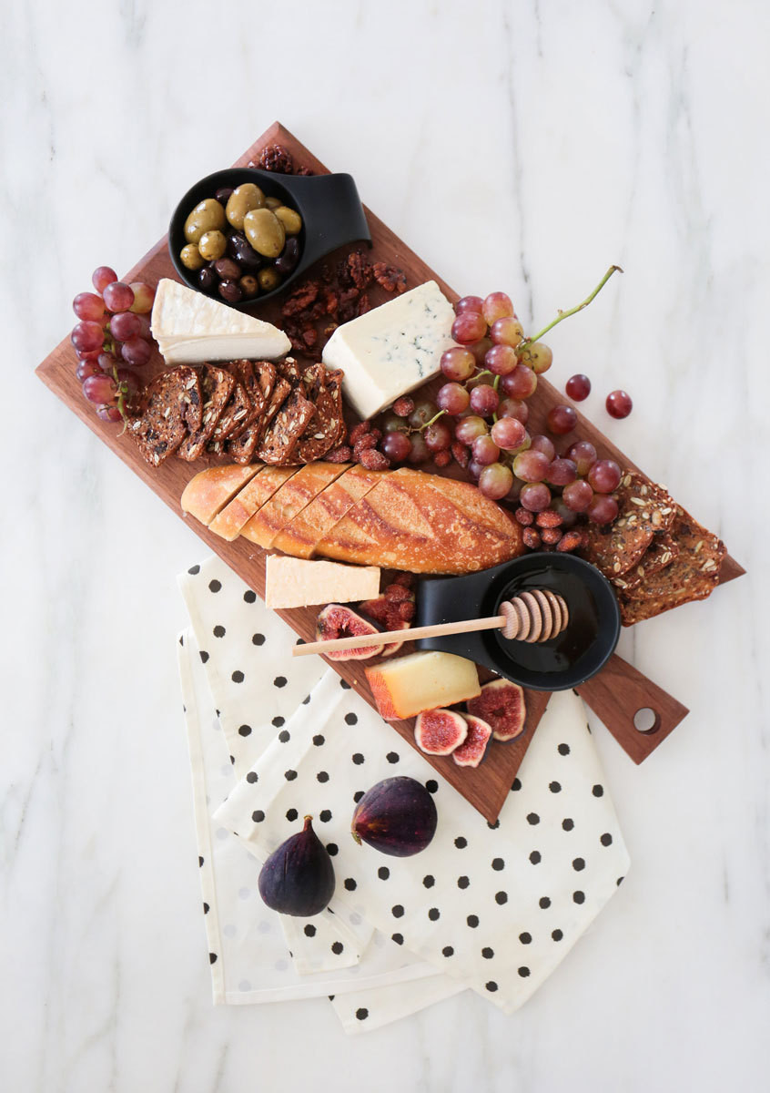 A delicious cheese board is the perfect picnic nosh. Get Sherman Samuel's foodie essentials on her blog.