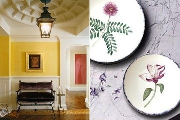 A Teeny-Tiny City Apartment, Even More Holiday Cocktails, and Pretty Floral Plates