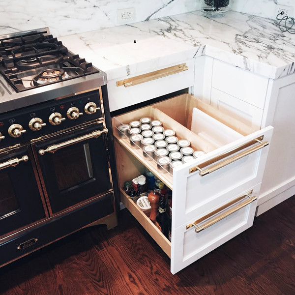 Put Food In Pull-Out Drawers