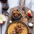 Brie and Cheddar Apple Beer Soup