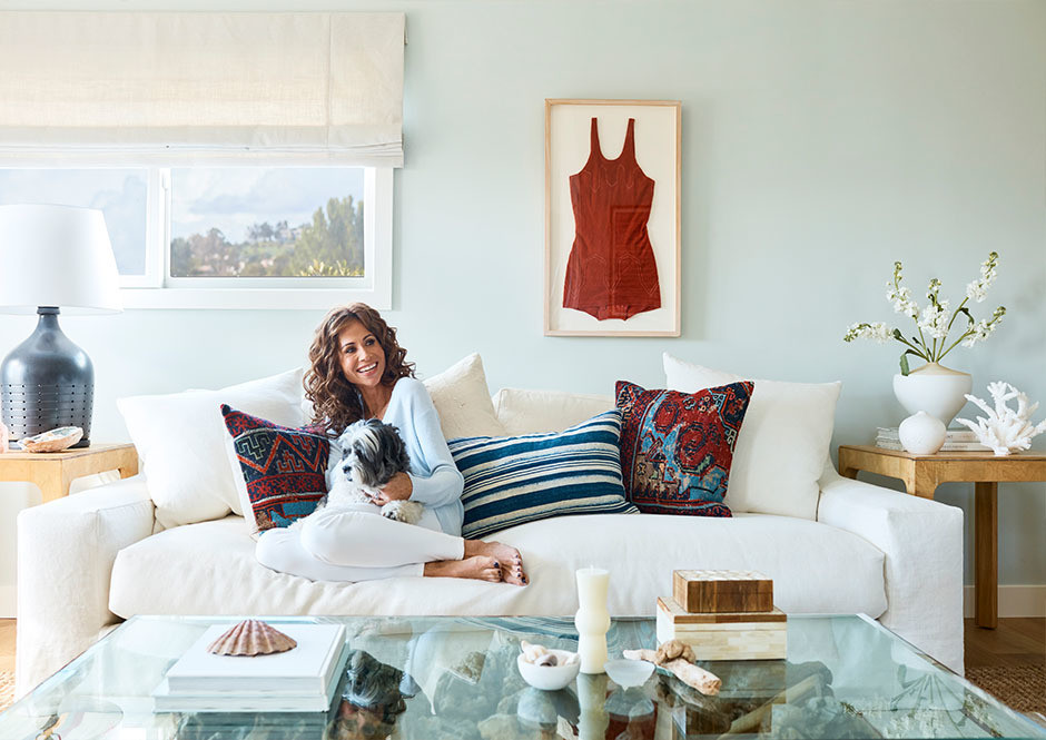 Minnie Driver enlisted the help of One Kings Lane to recreate her relaxed Malibu oasis.