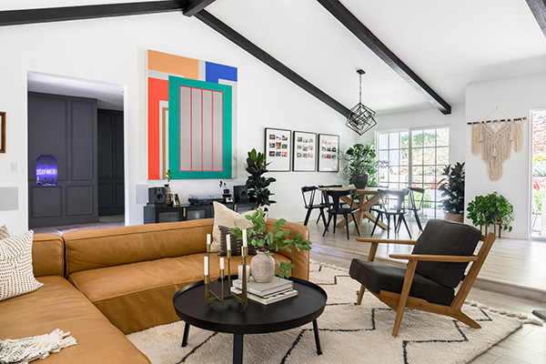 Actor Charles Michael Davis' Home Is An Eclectic Artist Paradise