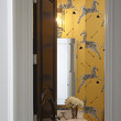 Wallpapered Half-Bath