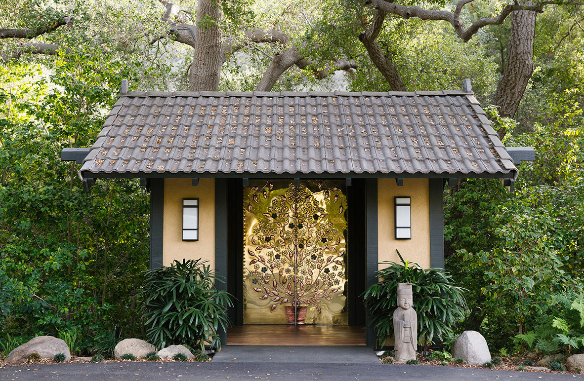 The Japanese-inspired grounds (and namesake entrance) of the Golden Door Spa, in Escondido, California.