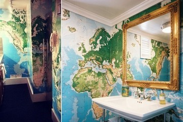 We Stole This Look: Map as Wallpaper