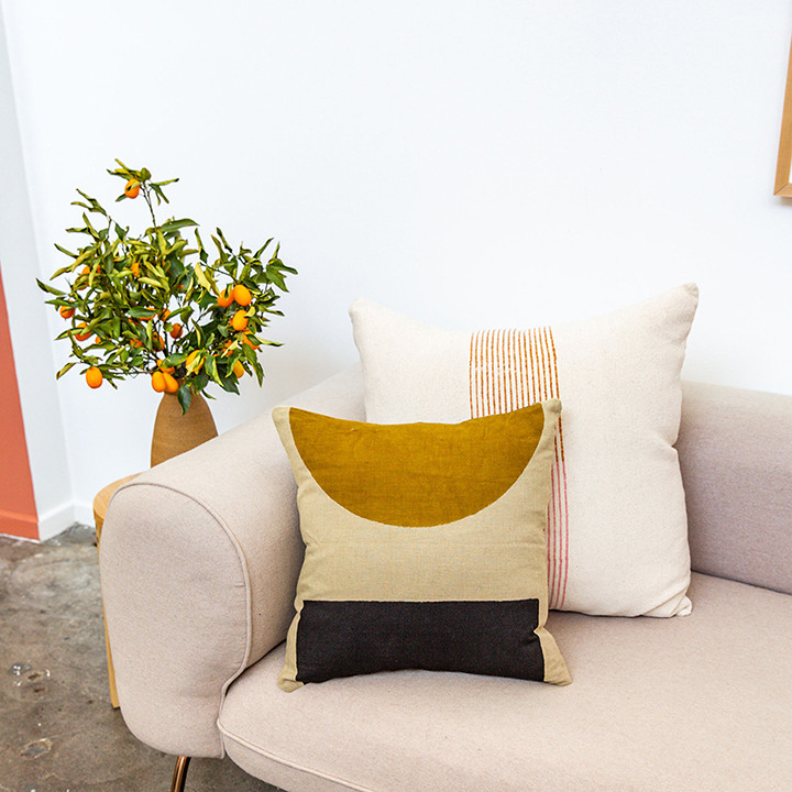 Block Shop's New Pillows Deserve A Spot On Your Sofa