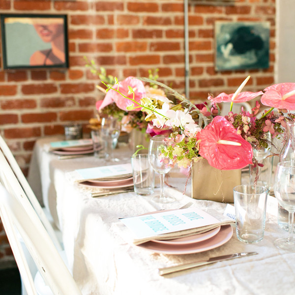 A Peek Inside A Colorful Friendship-Themed Dinner
