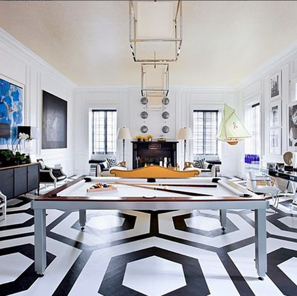 A floor painted by@deanbargerand designed by Eric Cohler. Photo:@kindredcreativestudio