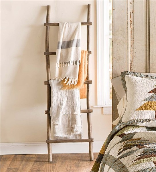 Wood Quilt Rack Ladder