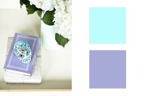Bright Turquoise + Dried Lavender