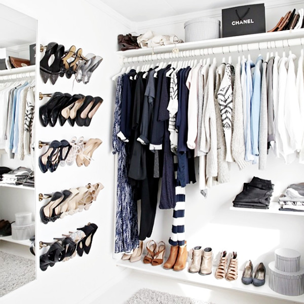 How To Make Your Exposed Closet Look Elevated · Shoe Wall