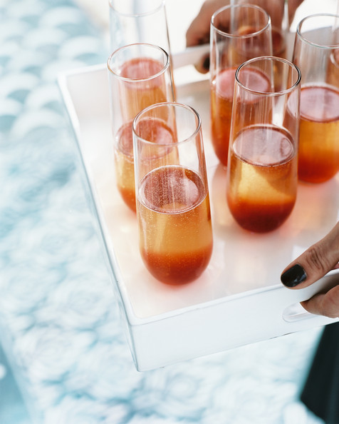 Sparkling Wine with Strawberry Syrup