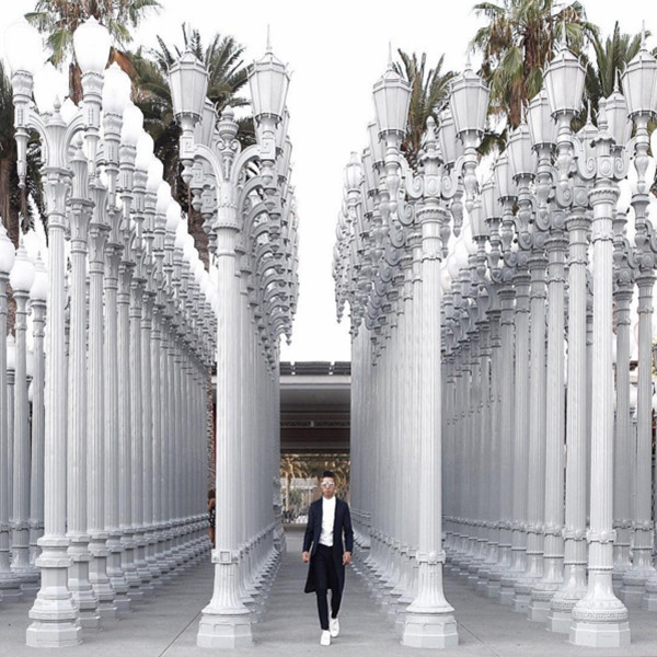 L.A.'s Urban Lights At LACMA