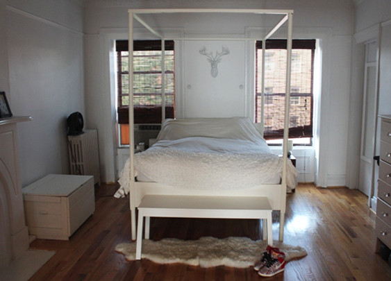 the bedroom before apartment makeover how to maximize